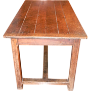 Trestle Table Desk France 18th Century Pegged Drawer