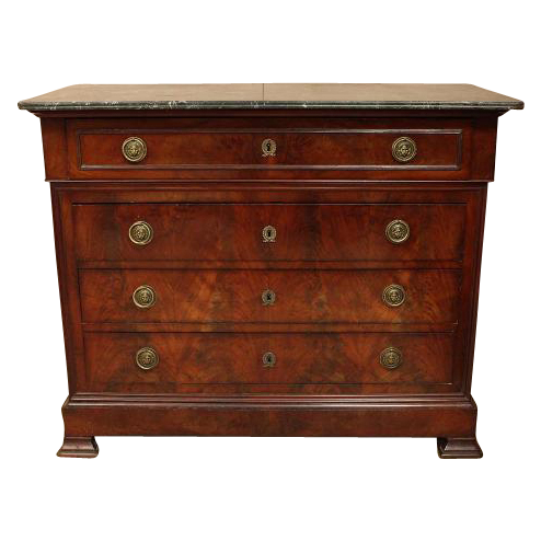 Antique french louis philippe mahogany commode with secretary from maisondecorantiques on ruby lane - Commode secretaire louis philippe ...