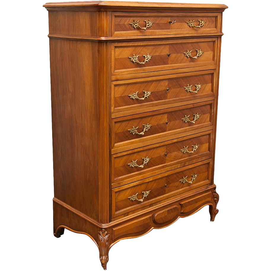 louis xv style dresser chiffonier marquetry france c 1900. Black Bedroom Furniture Sets. Home Design Ideas