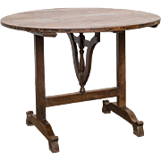 French Antique Folding Wine Tasting Table