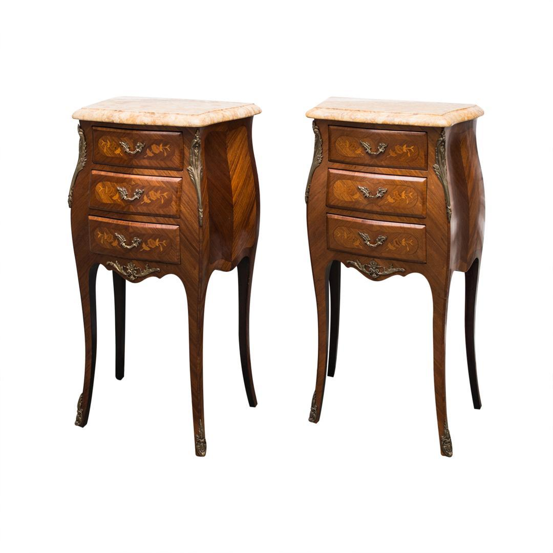 Louis Xv Style Bombe Commode S Or Night Tables From