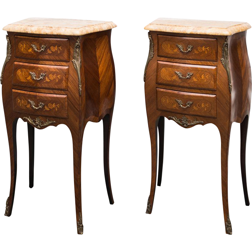 Louis xv style bombe commode s or night tables from - Table de chevet louis xv ...