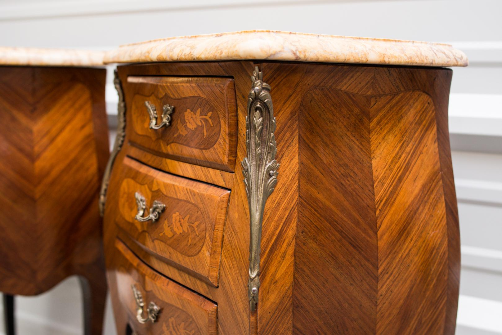 Louis Xv Commode Louis Xv Style Bombe Commodes Or Night Tables From .