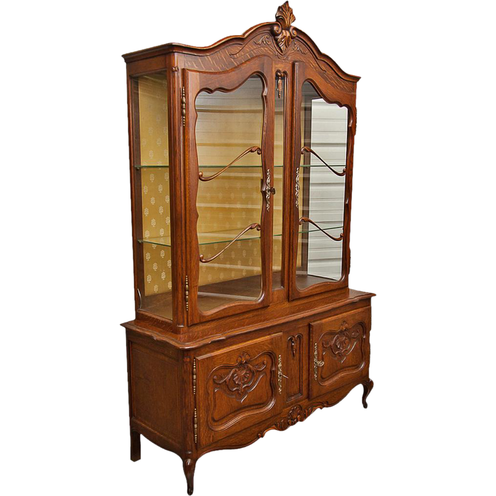 Vintage louis xv buffet china cabinet from for China cabinet