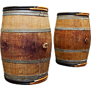 Wine Barrels Bordeaux France Vintage Oak