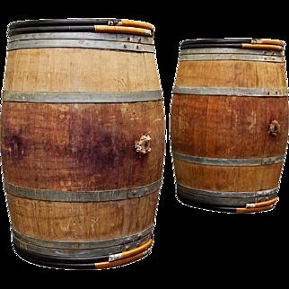 Vintage French Wine Barrels
