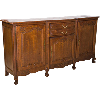 19th Century Louis XV style parquet top sideboard