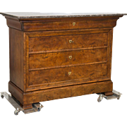 Louis Philippe Commode Mahogany 5 Drawers France C. 1890