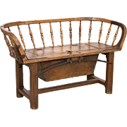 Antique 19th Century Horse and Carriage Bench