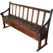 18th Century French Transit  Storage Bench Nante Line