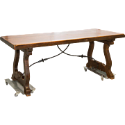 Antique Spanish Trestle Table