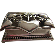 Art Nouveau Silver Plated Stamp or Trinket Box