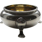 Art Deco Sterling Footed Salt Cellar or What-not Dish, Nayler Brothers, London, England 1939