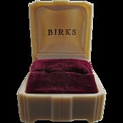 BIRKS Art Deco Celluloid Ring Box, c.1930's