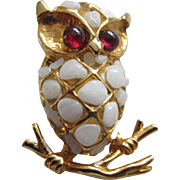 SWOBODA Gemstones Owl Pin with Original Tag