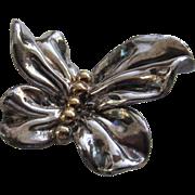 VARSANO Israel Sterling Silver Ruffled 3-D Butterfly Brooch