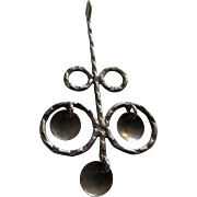 Modernist Scandinavian Long Silver Pendant with Quivering Discs, RAMM