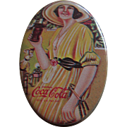 Small Coca Cola Advertising Tin with Sewing Kit