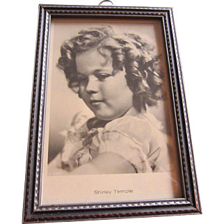 Shirley Temple 20th CENTURY FOX Studio Portrait in Period Frame, c. 1935