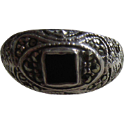 Sterling and Marcasites Edwardian Style Ring