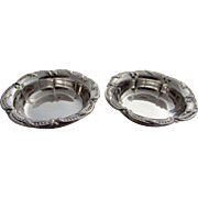 Pair of Vintage Fluted Sterling Silver Nut Dishes, Roden Brothers, Toronto