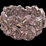 SHERMAN Dazzling Clear Rhinestone Rigid Cuff Bracelet