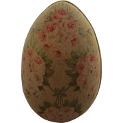 Large Vintage Floral Chintz Covered Easter Egg Box
