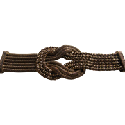 Vintage Knotted Multi Strand Brass Bracelet