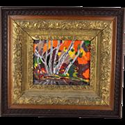 Vintage Original Oil Painting 20th Century Modern Landscape Impressionist Framed