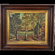 Vintage Original Oil Painting 20th Century Modern Canadian Landscape Impressionist Framed