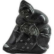 Vintage Original Inuit Sculpture Aboriginal Eskimo Soapstone Carving Art