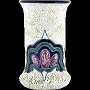 Antique Art Nouveau Amphora Jeweled Vase Czecho Slovakia Bohemia Teplitz Turn