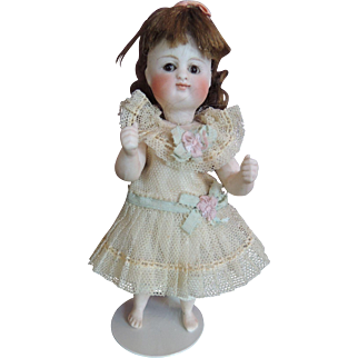 "Darling 5  1/2 "" Kestner pouty with RARE bare feet"