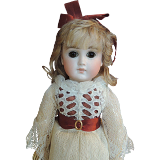 """12 1/2 """"  Early unmarked German Doll."""