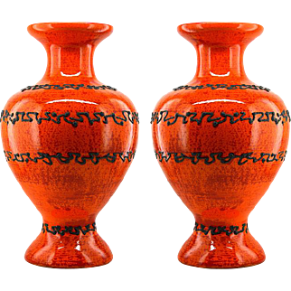 Pair of Large Glossy Vases by Söndgen Germany 1970s