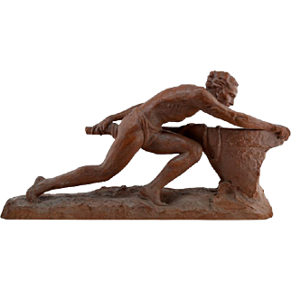 Ugo CIPRIANI French Large Art Deco Terracotta Sculpture 1930s