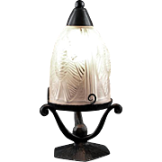 NOVERDY French Art Deco Pine-Cone Table Lamp / Night-light 1930
