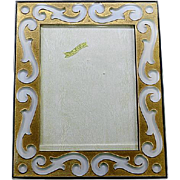 French Art Deco Acid-etched Glass Photo Frame 1930