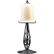 French Art Deco Alabaster Table Lamp 1920s