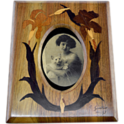Camille GAUTHIER French Art Nouveau Inlaid Photo Frame 1900