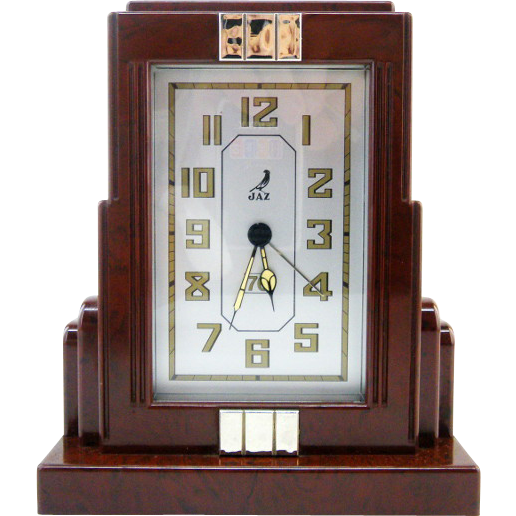 Jaz french art deco skyscraper alarm clock 1930s from Art deco alarm clocks