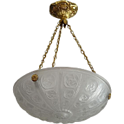 SEVB French Art Deco Pendant Chandelier 1925