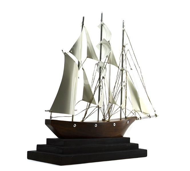 Art Deco Ship: Large French Art Deco Three-Master Ship 1930s From Adcgl
