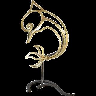 Large Bronze Dolphin Sculpture 1940s