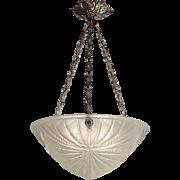 French Art Deco Pendant Chandelier, 1925