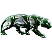 French Art Deco Ceramic Tiger late 1930s