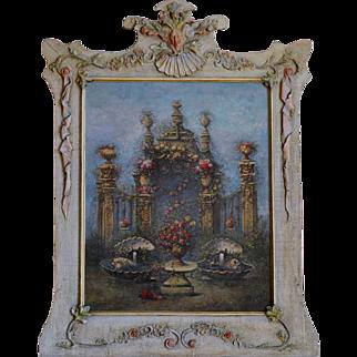 Jules GOUILLET Oil on Canvas Architectural Composition 1907