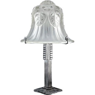 Large French Art Deco Table Lamp 1925
