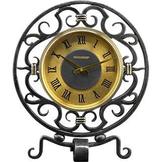JAEGER-LECOULTRE French Vintage 8 Days Clocks designed by Gilbert POILLERAT 1940s