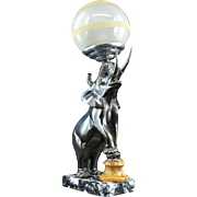French Art Deco Elephant Table Lamp or Night-Light Sculpture 1930